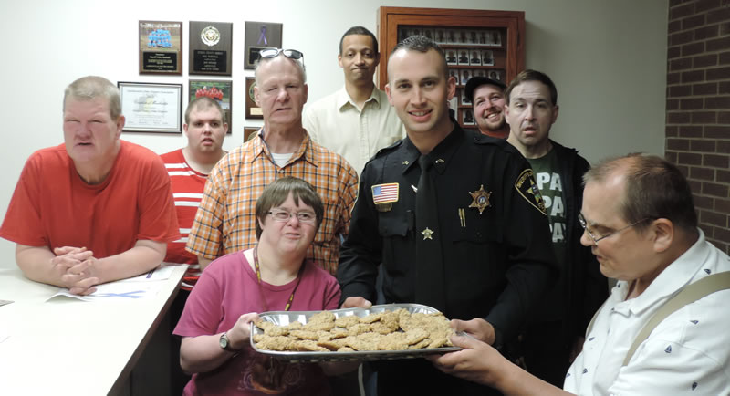 Delivering Cookies to the Sheriff's Department